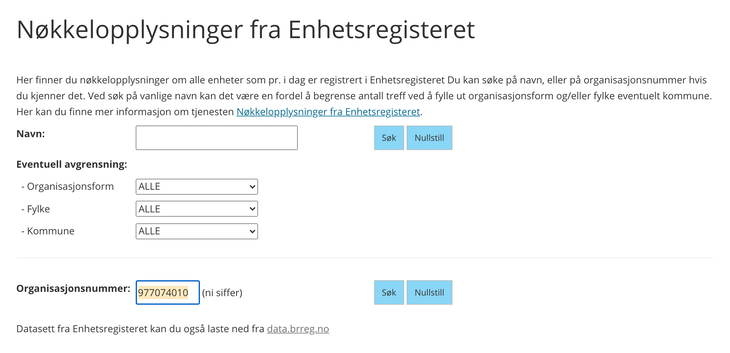 Check a VAT number with the Norwegian VAT Register