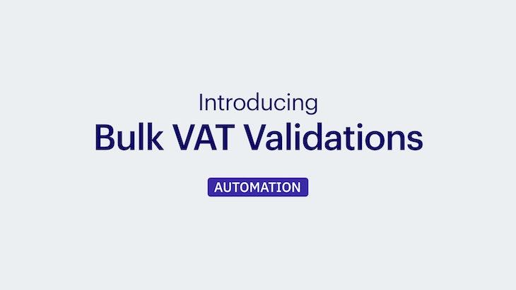 VAT Number Mass Validation in Bulk